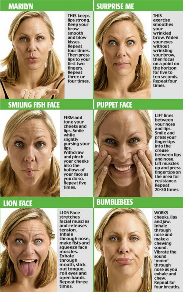 14 Yoga Exercises For Slimming Your Face💆 by 💋Jasmine