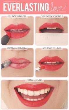 30. Here's how you get longer-lasting lipstick.
