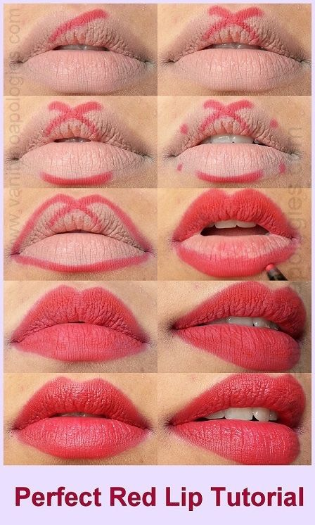 """Get perfectly lined lips  Define your cupid's bow with lip liner by creating an """"X"""" shape. Doing this before lipstick will enhance your lip shape And ensure lipstick stays on longer."""