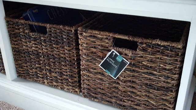 My job was easy:  I went shopping for the drawer pulls and wicker baskets!  I also installed the drawer pulls.