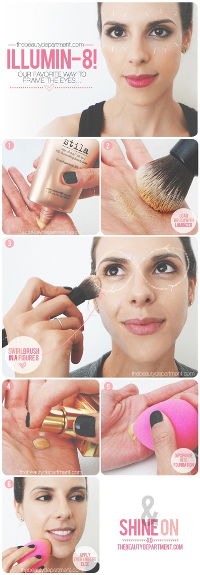 15. Make your eyes look amazing and bright using this 8 technique