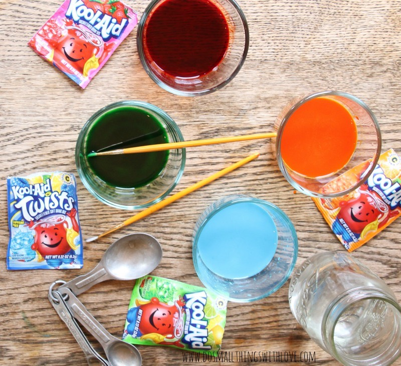 Pour the kool aid in bowls and dip your hair in the bowl for at least ten or thirty minutes