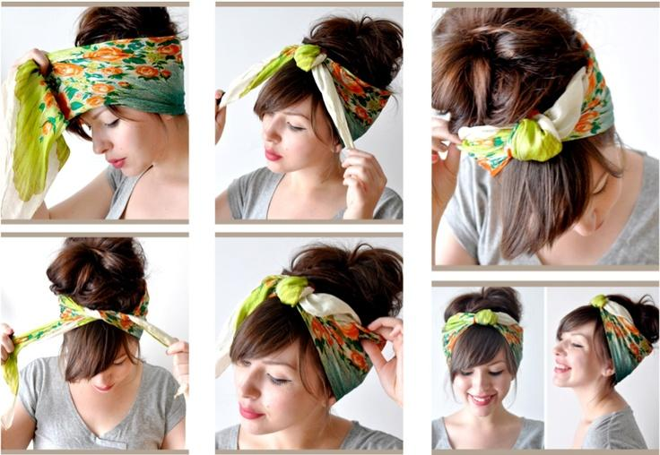 44. If you're really not feeling your hair, just stick it up in a pretty turban or scarf.