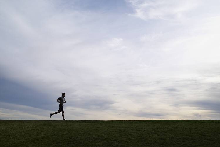 Run in the morning or night (depending on where you live and what time of year). It is typically hotter in mid day and it's easier to run when it's cooler out so you won't sweat as much and become dehydrated.