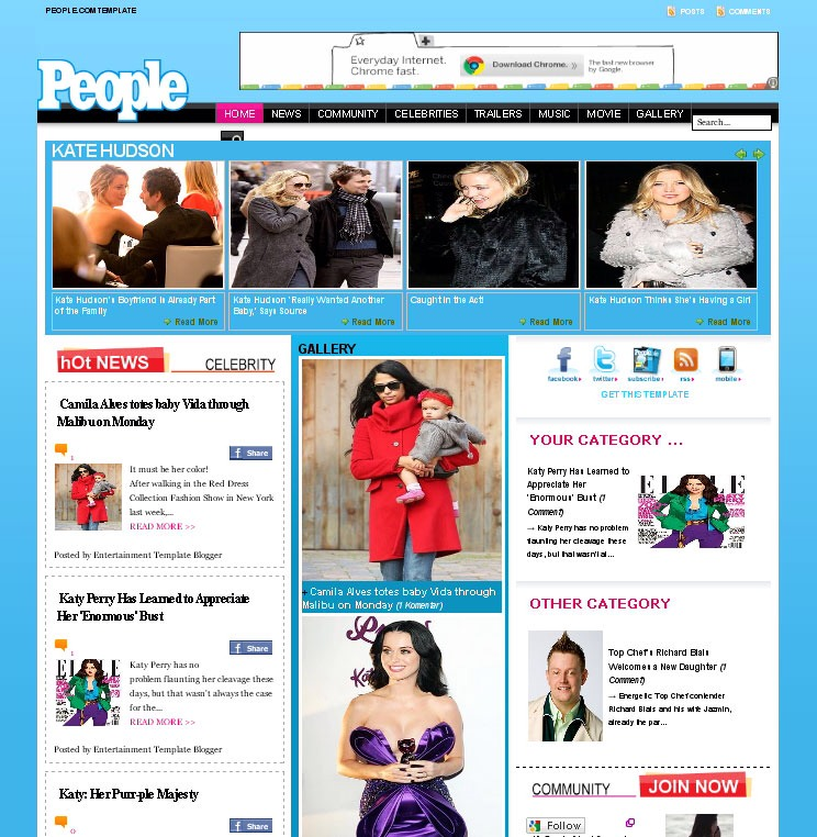 7) Keep an eye on websites for up to the minute celebrity gossip.
