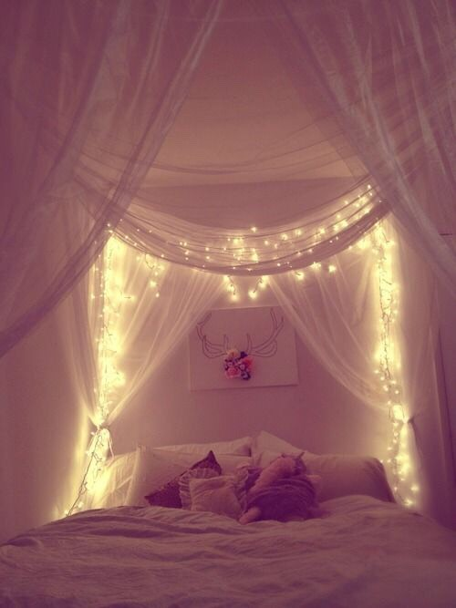 5. Bed Nets. This is optional but Bed Nets really look princessy and can add coziness to a room. If it's too much for you, try throwing comforters around and making a little fort you never have to take down. 👌👌