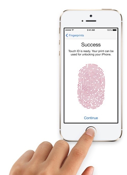 4- Place your finger on Touch ID.