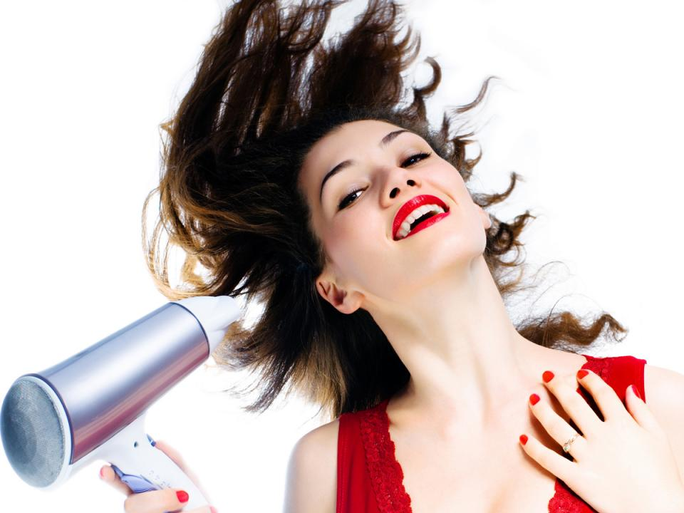 Don't use thermal styling on your hair a lot. This damages your hair by making it look dry and affects the pace at which it grows. Using thermal protection sprays on hair before styling or simply using a towel for drying hair are simple long term solutions.