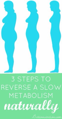 this is where you're at, today I'm going to tell you how to go about reversing your slow metabolism. Knowing what habits to change is the most important place to start!