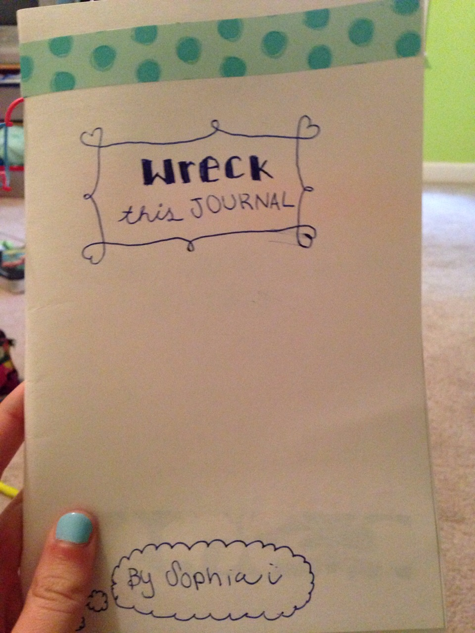 Ok so for my friends half birthday I decided to make my own version of wreck this journal
