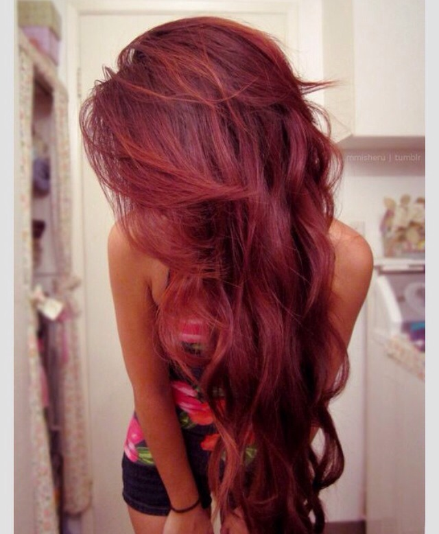 2016 Summer Hair Color Trends Red Cherry