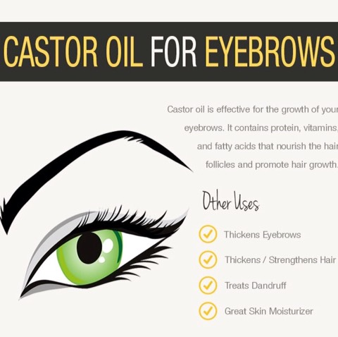 Castor oil for nice eyelashes and eyebrows