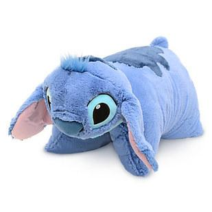 14. Or a cute and fluffy stuffed Stitch that unfolds into a pillow.