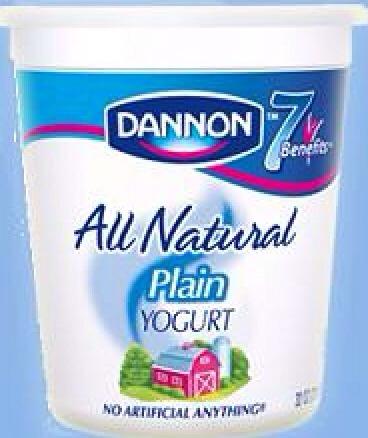 For sensitive skin 1 cup of natural yogurt