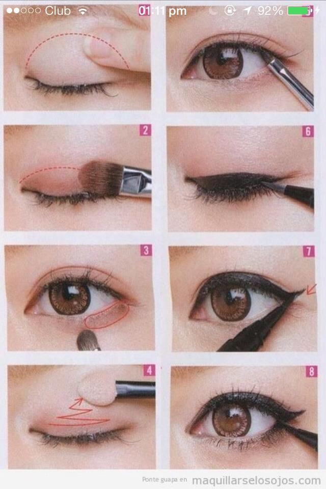 Basic daily eye look