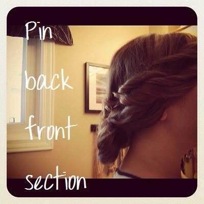 6. Pin back the front section.