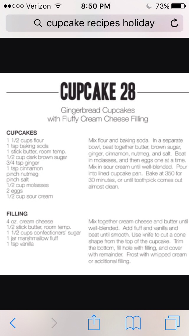 Directions for a delish cream filled chocolate cupcake