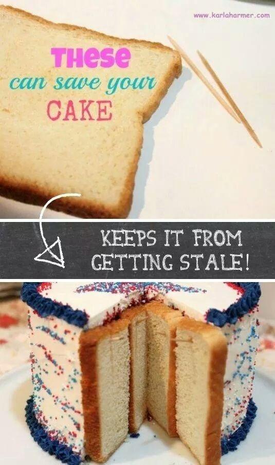 Keep The Edges of Cake Fresh