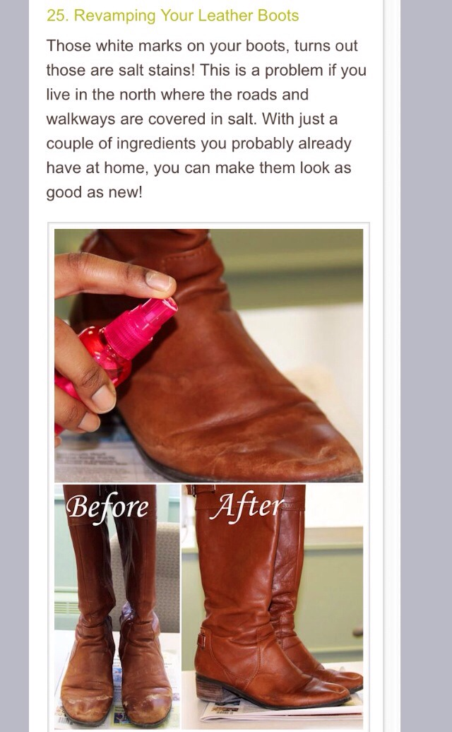 Link for ingredients - http://www.11andchic.com/2013/03/how-to-remove-salt-stains-from-leather.html?m=1