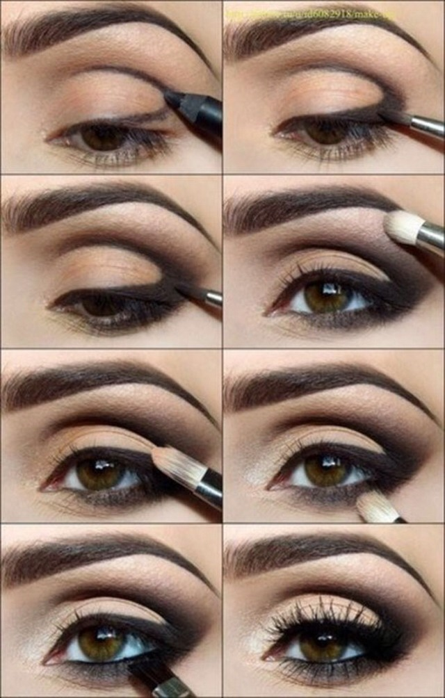 Simple Natural Smoking Eye Makeup Follow The Easy Steps In The