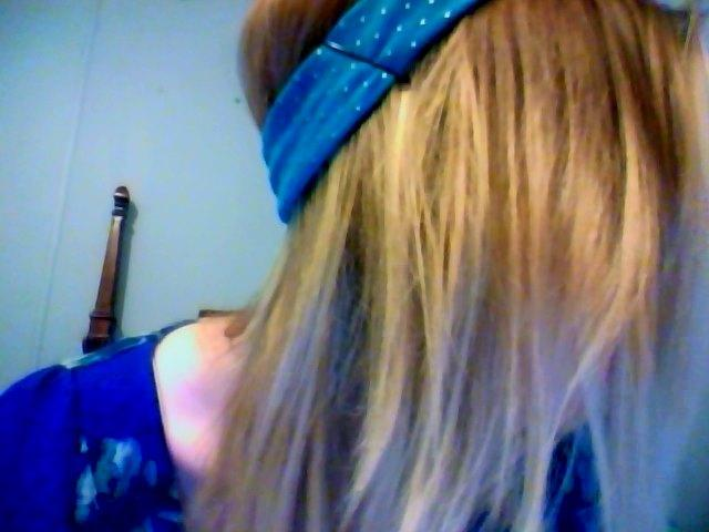 Step 2: I always bobby pin the headband to my hair for extra hold!