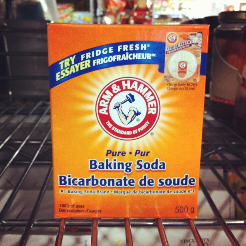Before shampooing, add 1 teaspoon of baking soda to a handful of shampoo. Scrub your scalp vigorously with the baking soda mixture before working the shampoo through your hair. Rinse thoroughly. Repeat once per week