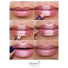 14. If you want to fake fuller lips, applying light pencil in the center of your lips will do the trick.