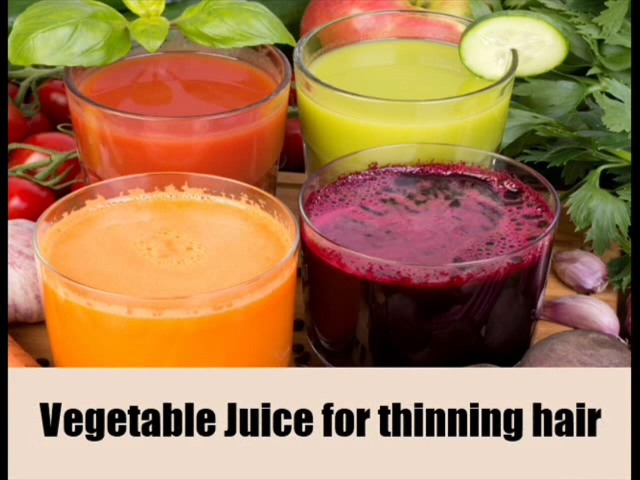 Consumption of a mixture of carrot, lettuce & capsicum juice is one of the most effective remedies for thinning hair. An individual can also drink a mixture of fresh alfalfa and spinach juice to treat the problem of thinning hair. Washing hair with coriander juice can also provide effective results.