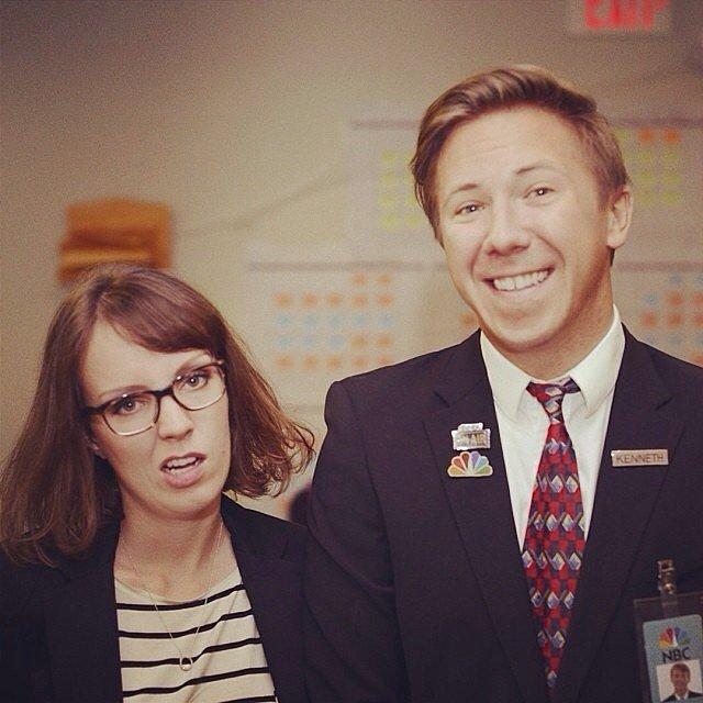 Liz Lemon and Kenneth From 30 Rock