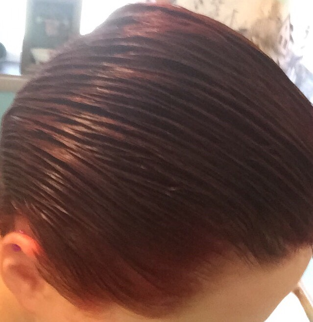 This is after I had combed the color through.