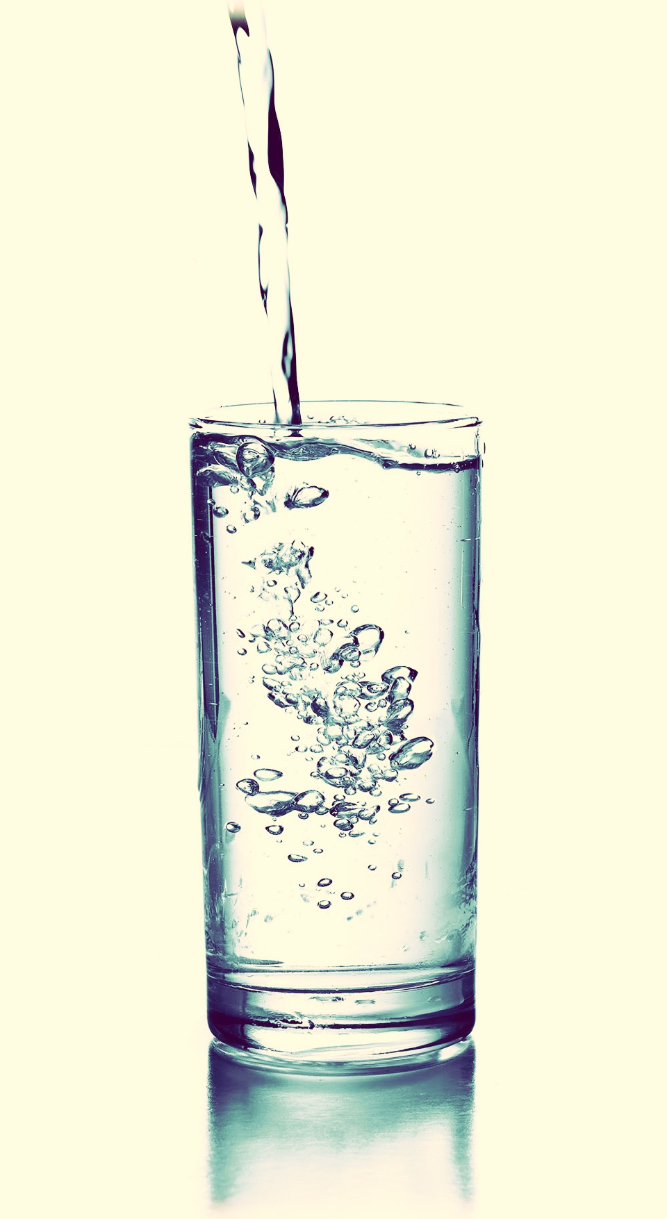 Start by poring some Brita water into whatever drinking container, glass, or whatever you are using. *you can also use to So water if you'd like*