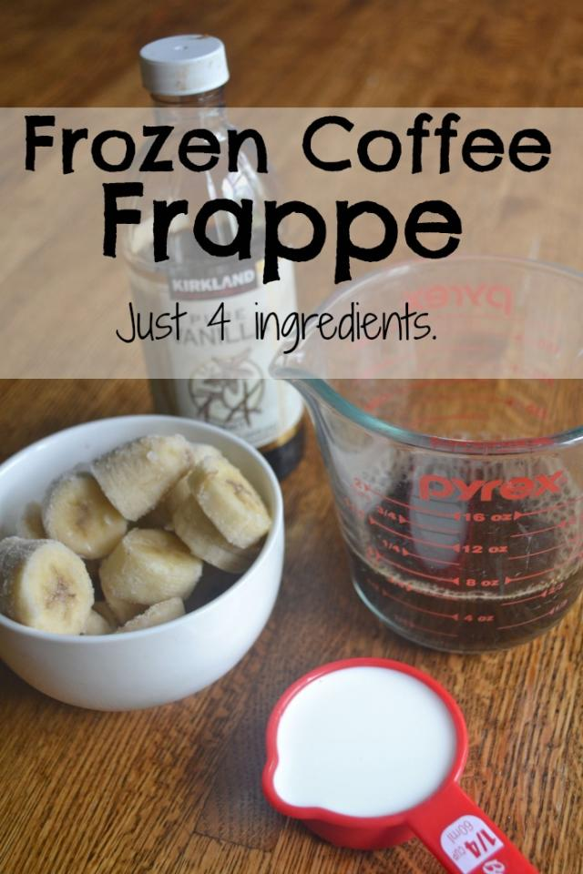 Ingredients: 1 1/4 cups of chopped frozen bananas 3/4 cup of  leftover cold coffee 1/4 cup of milk  1 teaspoon of  Vanilla extract.  Just Blend and enjoy!