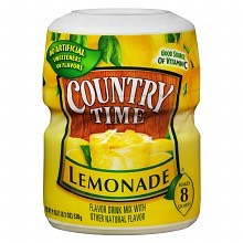 2.) Get your lemonade mix and pour it into a cup or a blender.