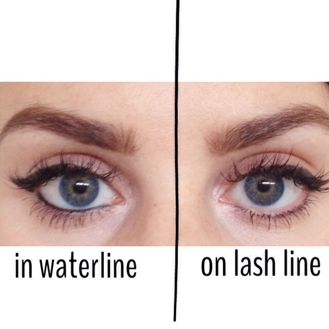 here is the difference between the water & lash line and what they both do