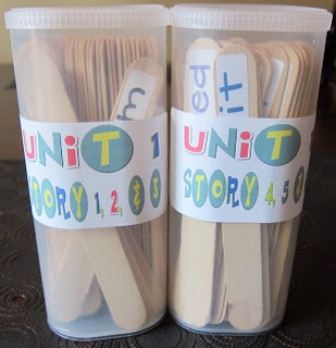 Reading Game Wash off your Popsicle sticks after you eat the sweets and create a reading game!