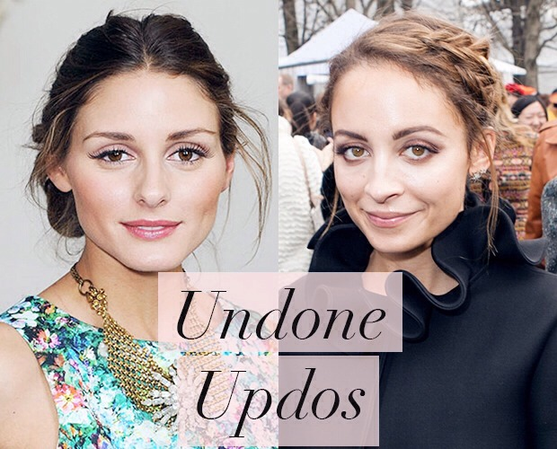 The undone updo is the perfect lazy hair trend for 2014. Not only is it super easy to achieve, the unkept, undone updo can also look ultra chic and boho when paired with the coolest of clothing. We only have to look to Nicole Richie's braided updo and Olivia Palermo's easy bun to see why it works!
