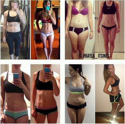 Here are some results and transformations from Kayla Itsines book!