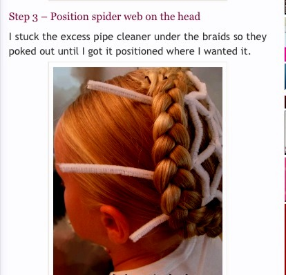 Swell Spiderweb Hairstyle For Halloween By Miriam Nevarez Musely Natural Hairstyles Runnerswayorg