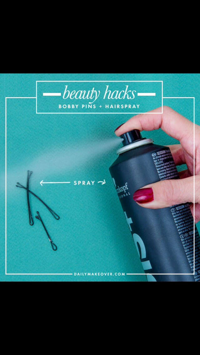 Spray your Bobby pins with hairspray