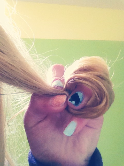 For tighter, bouncier curls, take a strand of your hair when it's wet and bobby pin it to your head.