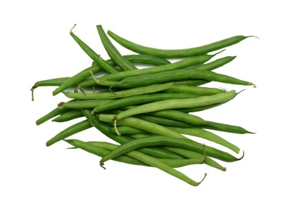 Steam or cook green beans and top w/ butter, salt, and/or pepper, or top w/ balsamic vinegar . I personally like French style green beans better.