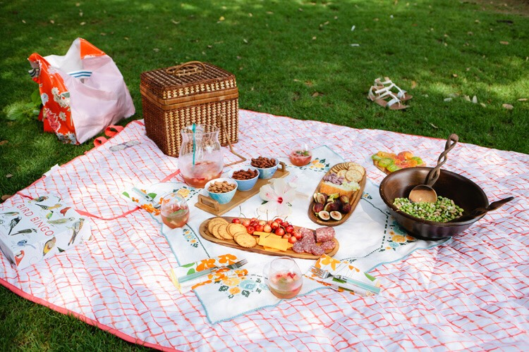 Have a picnic outside with family or friends.