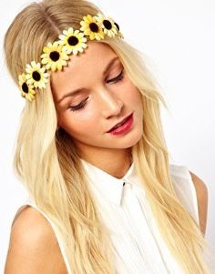Embrace spring with a flower headband for a cute boho style look