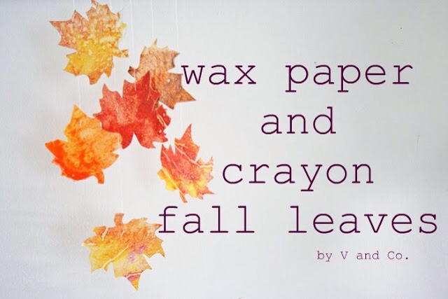 1. Wax Paper Crayon Creations. Turn your crayons into a fun decoration for fall.