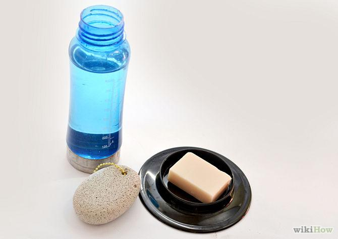1) All you need to remove hair with no pain:  soap, water and a pumice stone
