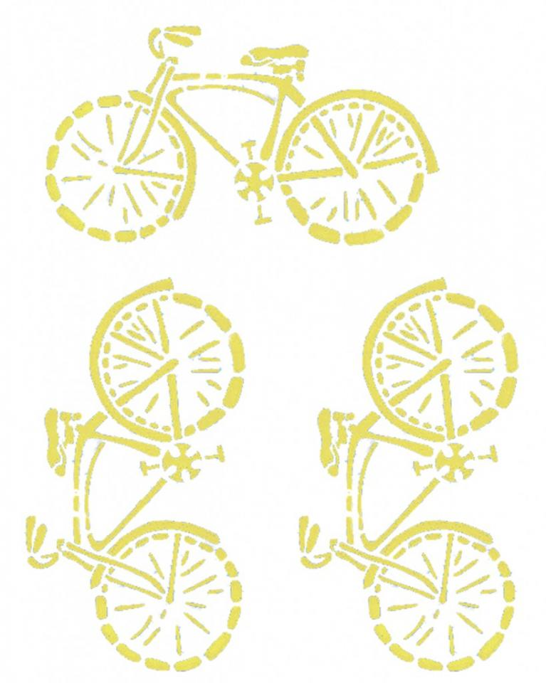 Template for the vintage bikes  The picture print size needs to be three times the final product. I found a 4×6 size to be great for key chains.