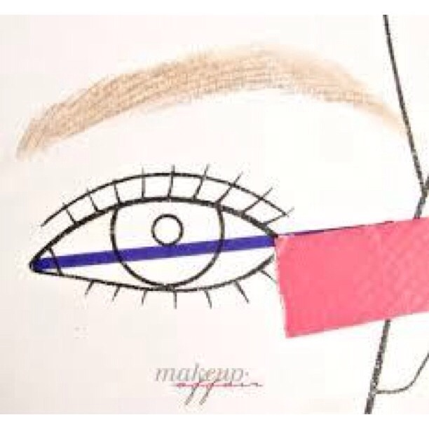 Lay your piece of tape. I usually make the length of the tape the length I desire my wing to be, to avoid second guessing the length for your other eye.