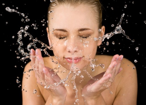 Give yourself a 30 second face wash then dry.