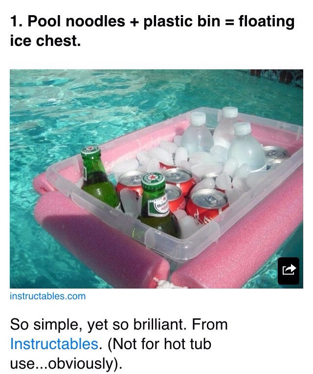 Would be great for floating down the river or camping👍