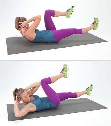 Crunches: There is no better exercise that you can think of to reduce belly fat than crunches. It will help you to easily burn stomach fat and if this exercise is coupled with a proper diet intake, then youcan see effective results in quick time.